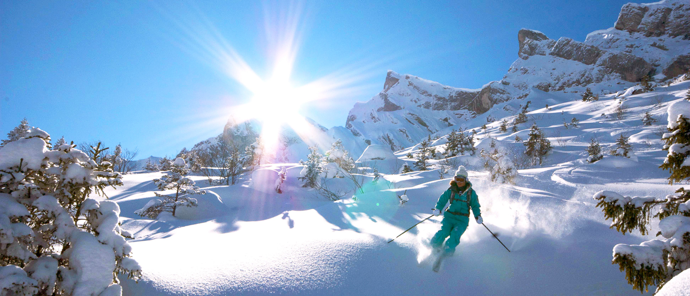 Ski Weekends with Blue Sky and Fresh Powder Snow
