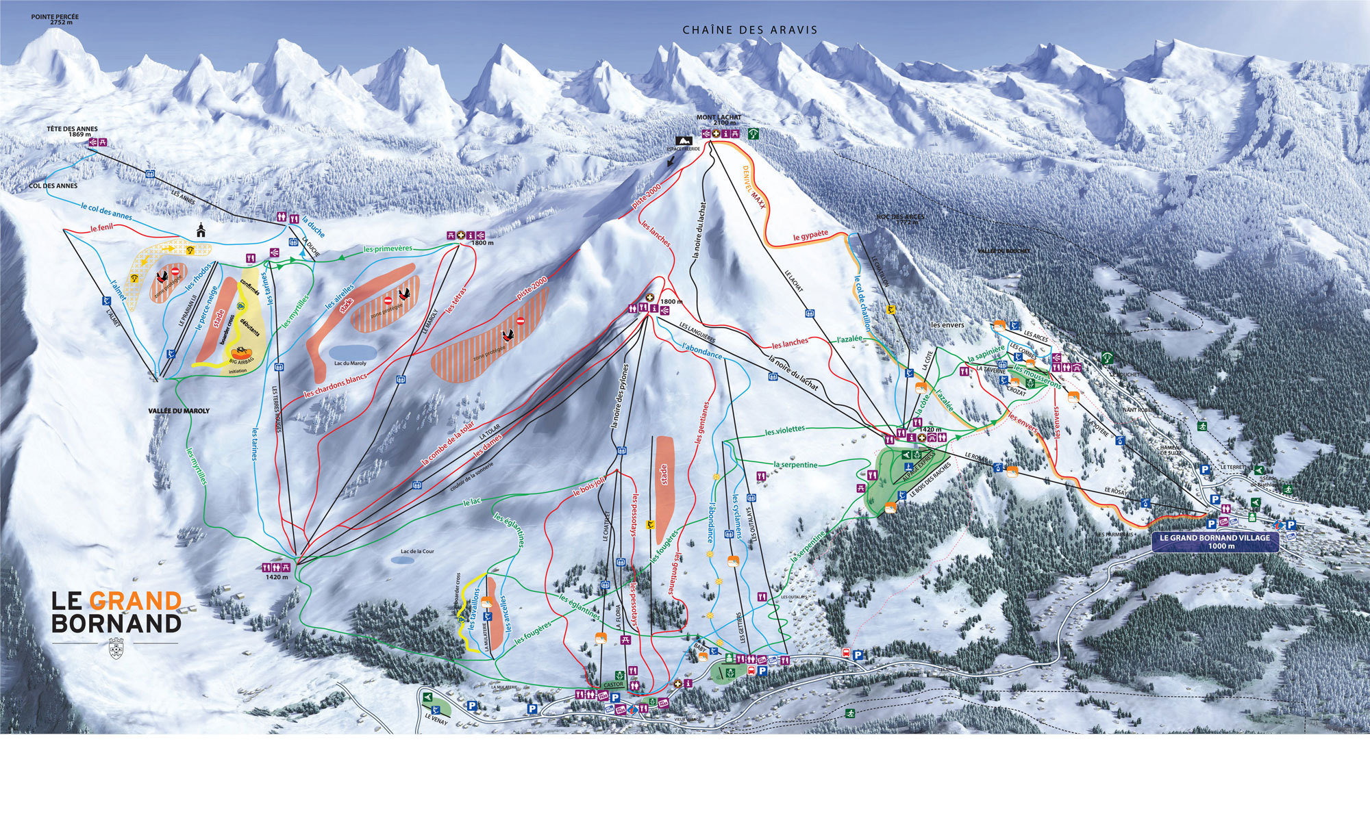 Le Grand Bornand Piste Map Ski Area Info from Local Experts