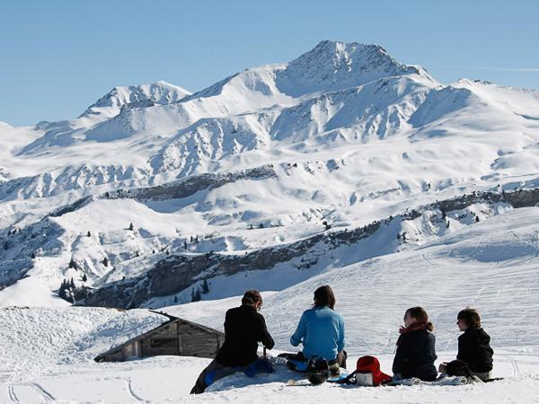 Areches Beaufort ski resort - France