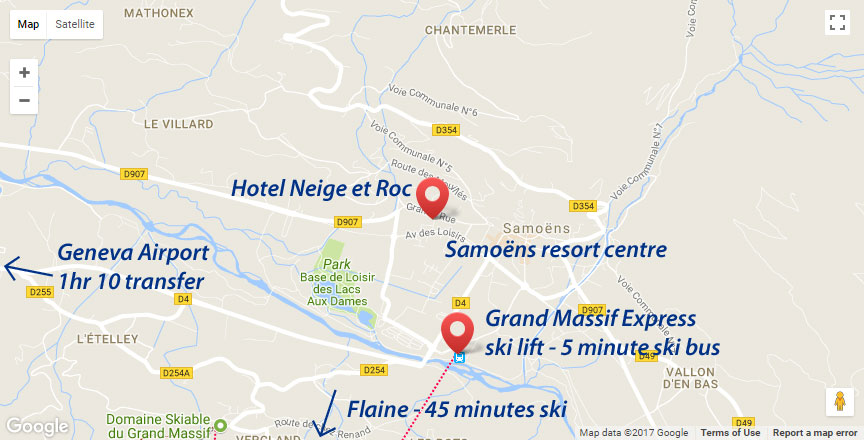 Hotel Pointe Percee Location