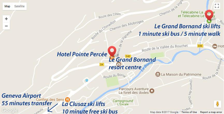 Hotel Pointe Percee Location