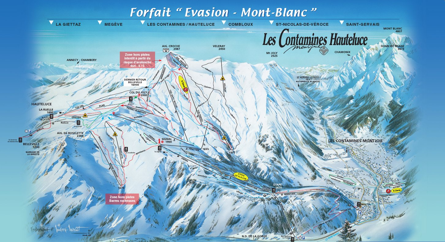 Les Contamines Piste Map Ski Area Info for a Great Short Break