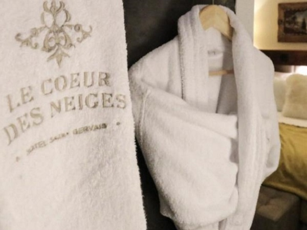 Personalised towels and bathrobe