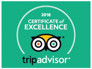 Certificate of Excellence with TripAdvisor owl logo